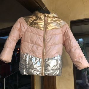 Cozy Puffer - Rose Gold Pink & Silver